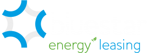 Bluestar Energy Leasing logo (White text)