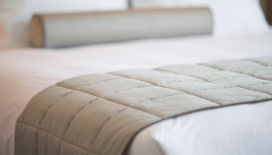Close up of hotel bed linen