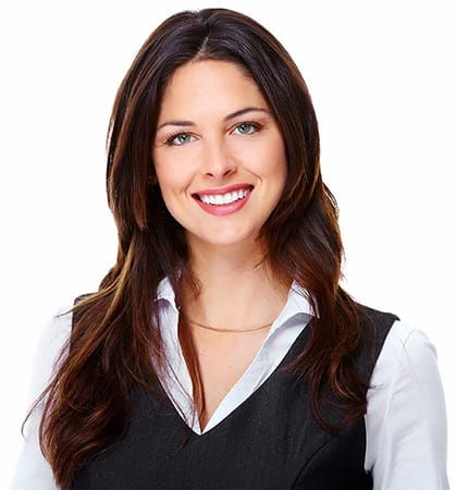 Close up of a businesswoman smiling into the camera