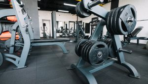 Large equipment in newly refurbished gym