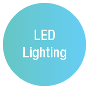 LED lighting icon