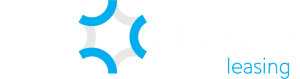 Powered by Bluestar leasing in white and blue text