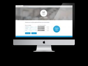 iMac displaying the Bluestar Leasing supplier landing page